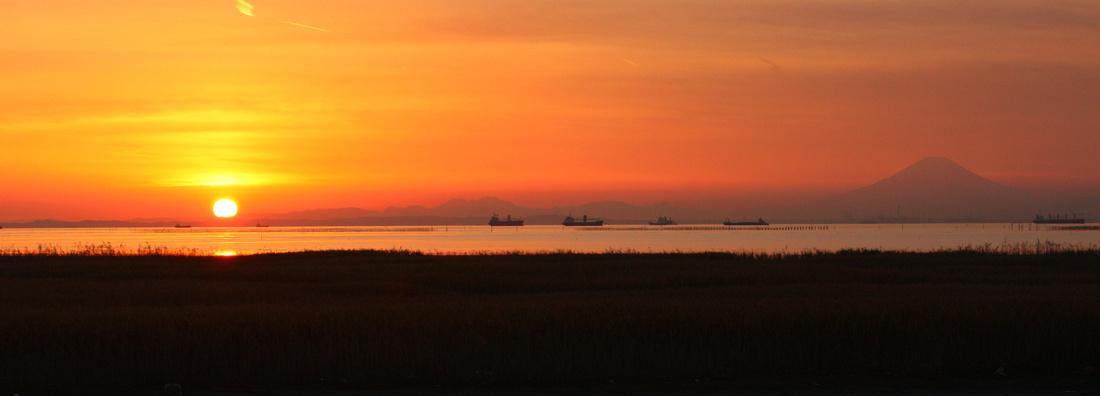 Mount Fuji Sunset Panorama